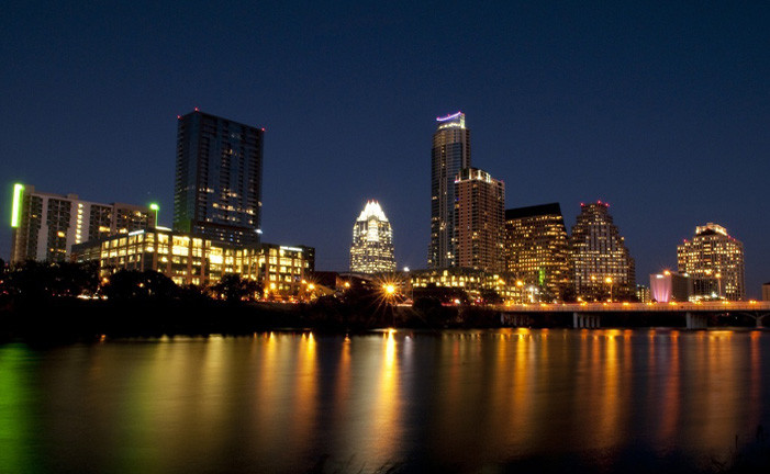 Downtown Austin Skyline at Night